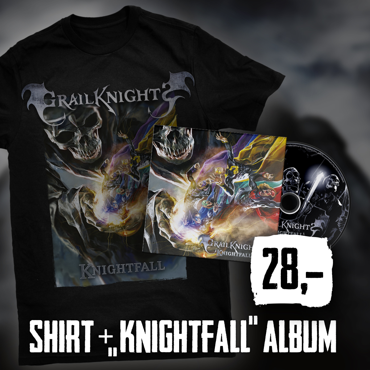 Shirt Knightfall & CD